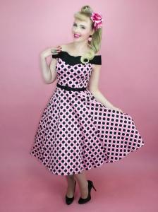 Joyce Polka Dot Dress from Miskonduct Klothing