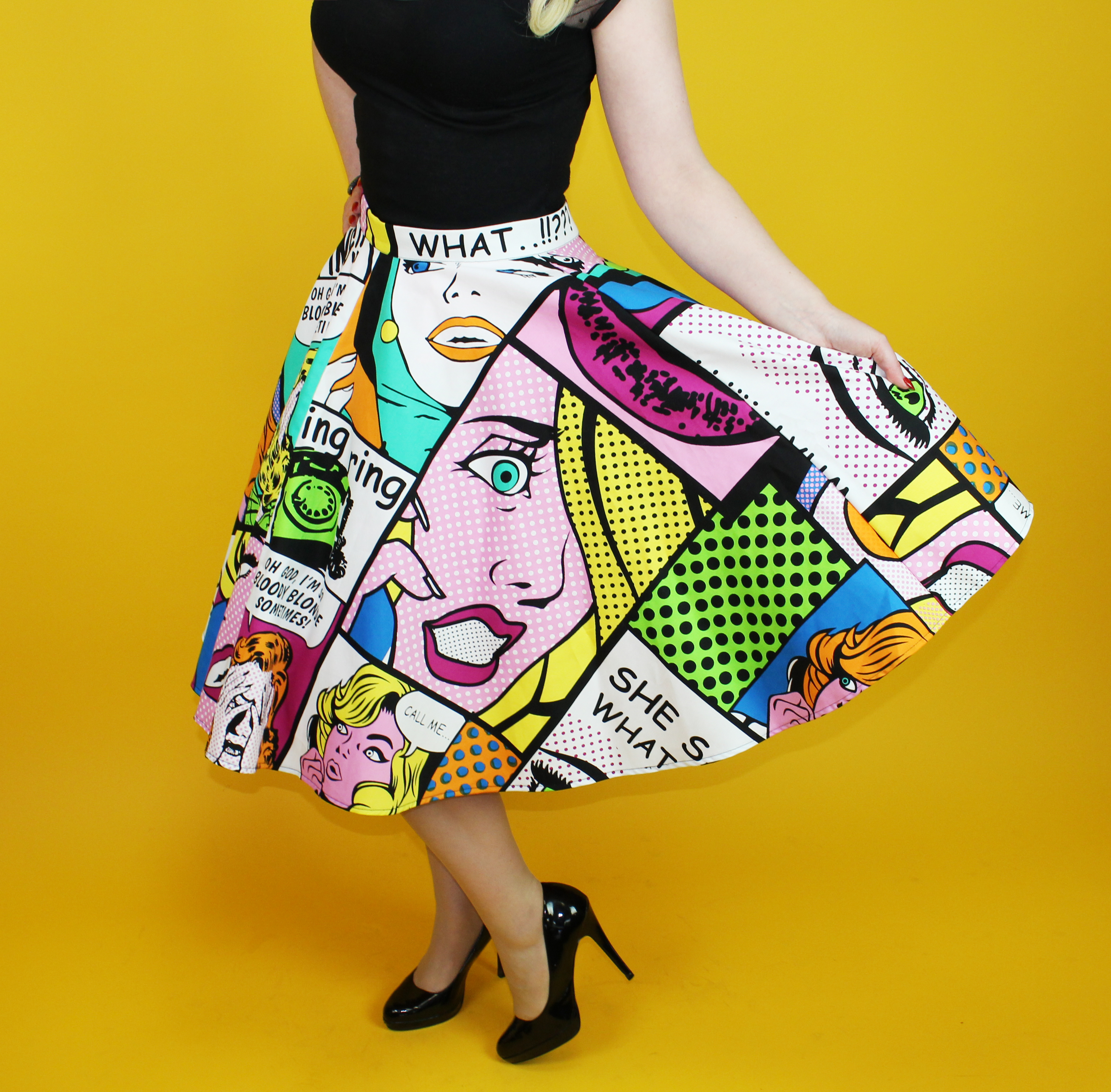 Pop Art Girl With Shoes