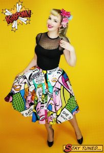 Pigtails&Pirates Pop Art Princess Skirt